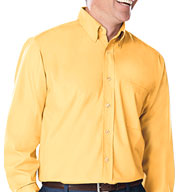 Custom Mens Long Sleeve Fine Line Twill Button Up Shirt