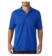 Mens Cool & Dry 2 Tone Mesh Pique Polo