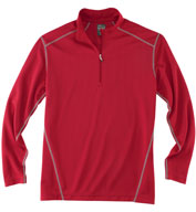 Custom Rivers End Mens Half Zip Mock Cover Up