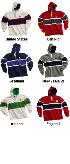 Hooded World Rugby Shirts - All Colors