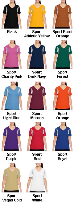 Ladies Team 365 Athletic V-Neck All Sport Jersey - All Colors