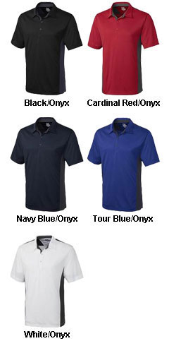 Mens DryTec™ Willows Color Block Polo - All Colors