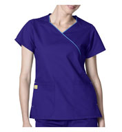 WonderWink® Holiday Wrap Scrub Top