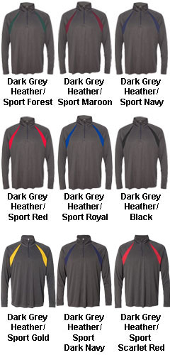 All Sport Mens Quarter-Zip Lightweight Pullover with Insets - All Colors