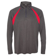 Alo Sport Mens Quarter-Zip Lightweight Pullover with Insets
