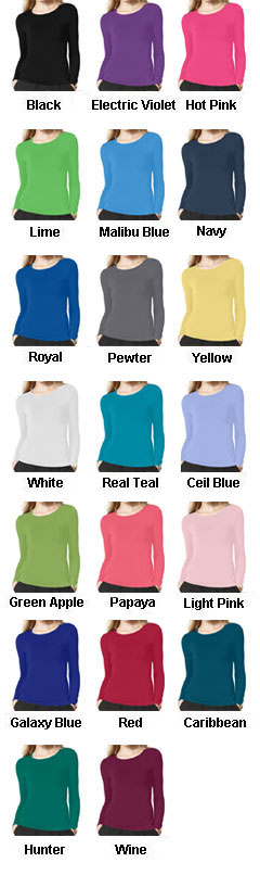 WonderWink� Silky Long Sleeve Base Layer Tee - All Colors