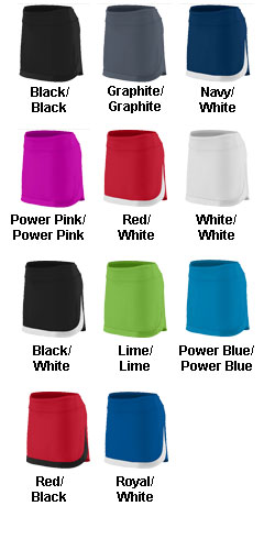 Girls Action Color Block Skort - All Colors