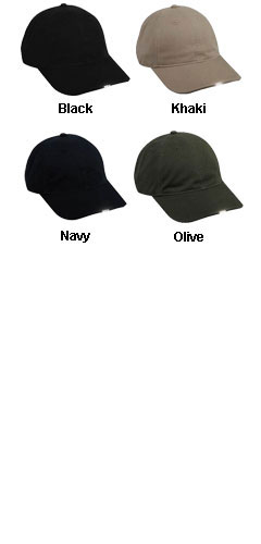 Washed Cotton Twill HiBeam Cap - All Colors