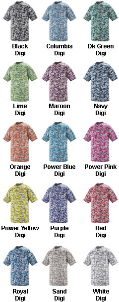 Custom Digi Camo Wicking Two-Button Baseball Jersey - All Colors