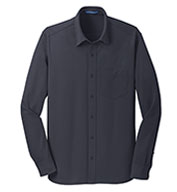 Mens Dimension Knit  Moisture Wicking Dress Shirt