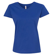Ladies Fine Jersey V-Neck T-Shirt