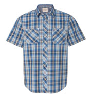 Custom Weatherproof® Vintage Plaid Short Sleeve Shirt