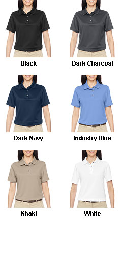 Ladies Advantage Snap Placket Performance Polo - All Colors