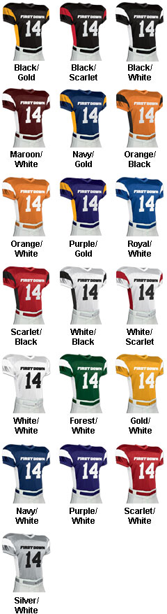 First Down Dazzle Jersey - All Colors