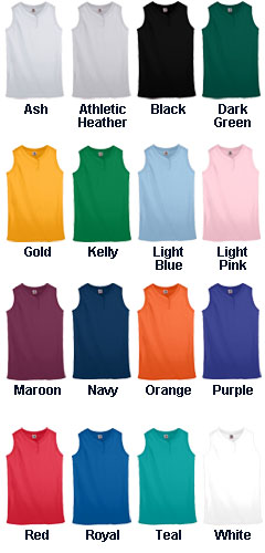 Ladies Sleeveless Two-Button Softball Jersey - All Colors