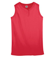 Ladies Sleeveless Two-Button Softball Jersey
