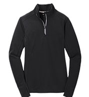 Ladies Sport-Wick® Textured 1/4 Zip Pullover