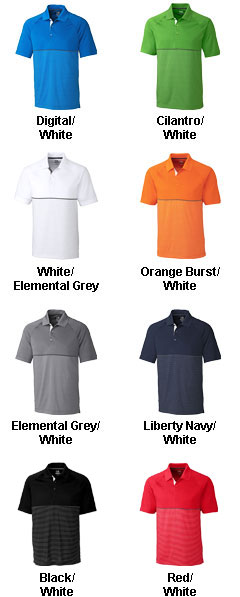Mens CB DryTec™ Junction Stripe Hybrid Polo - All Colors