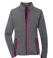Custom Ladies Sport-Tek Stretch Contrast Full-Zip Jacket