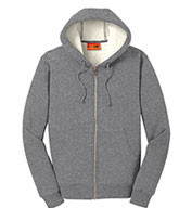 Custom Cornerstone® Heavyweight Sherpa-Lined Hooded Fleece Jacket Mens