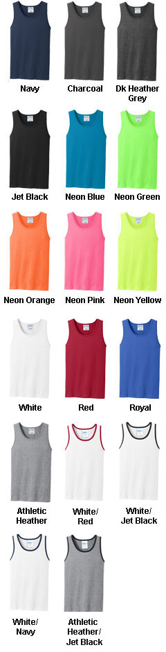 100% Cotton Tank Top - All Colors