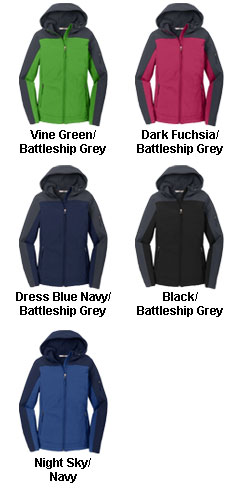 Ladies Hooded Color Block Soft Shell Jacket - All Colors