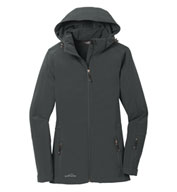 Custom Eddie Bauer® Ladies Hooded Soft Shell Parka