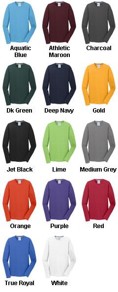 Long Sleeve Essential Blended Performance Tee - All Colors