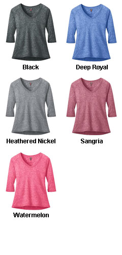 Ladies Microburn® V-Neck Raglan Tee - All Colors