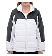 Custom North End® Ladies Excursion Meridian Insulated Jacket with Melange Print