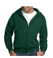 Custom Hanes Youth EcoSmart® Full-Zip Hooded Sweatshirt