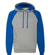 JERZEES Nublend® Colorblocked Hooded Pullover Sweatshirt