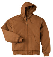 Duck Cloth Hooded Work Jacket in Tall Sizes