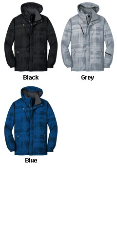 Brushstroke Print Insulated Jacket - All Colors