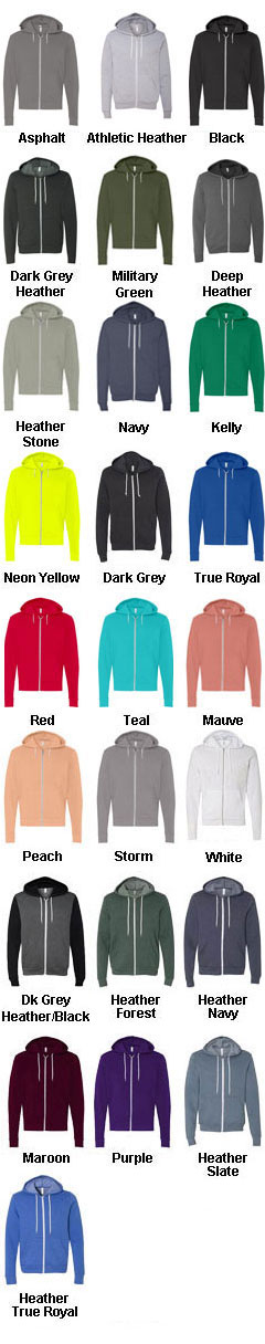 Unisex Poly-Cotton Fleece Full-Zip Hoodie - All Colors