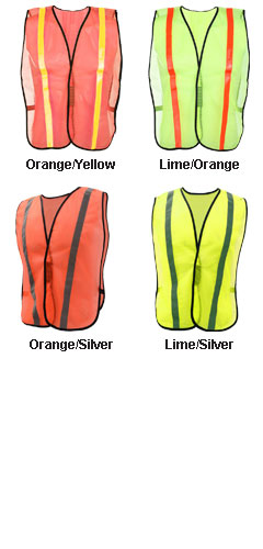 Non-ANSI Safety Vest with Elastic - All Colors