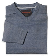Vintage Denim V-Neck Cotton Sweater