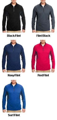 Cool and  Dry Color Block Dimple Mesh 1/4 Zip Pullover - All Colors