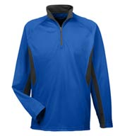 Cool and  Dry Color Block Dimple Mesh 1/4 Zip Pullover
