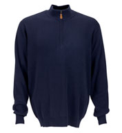 Drop-Needle 1/4 Zip Mock Sweater