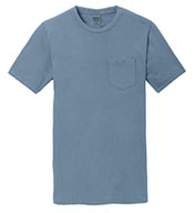 Custom Essential Pigment-Dyed Pocket Tee