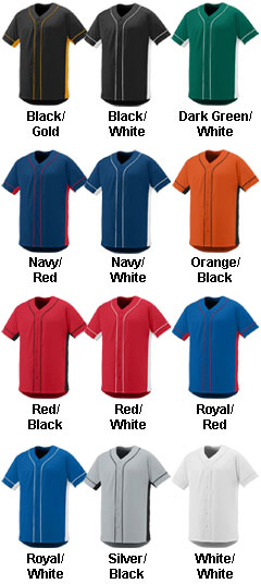 Youth Full Button Slugger  Jersey - All Colors