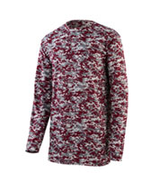 Custom Youth Digi Camo Wicking Long Sleeve