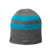 Custom Fleece-Lined Striped Beanie Cap