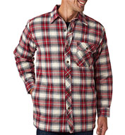 Custom Backpacker Mens Flannel Jacket with Quilt Lining