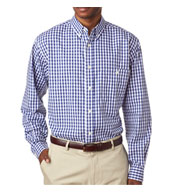 Mens Medium-Check Woven