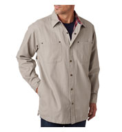 Backpacker Mens Canvas Shirt Jacket with Flannel Lining