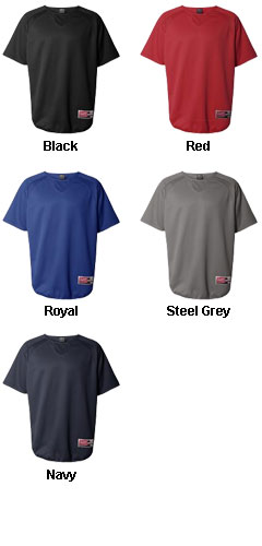 Rawlings Short Sleeve Flatback Mesh Fleece Pullover - All Colors