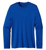 Patagonia Mens Long Sleeve Wicking Caplene® Crew Neck T-shirt