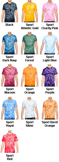 Adult Team Tonal Cyclone Tie-Dyed T-Shirt - All Colors